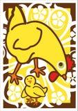 Poule et poussin Photographie stock libre de droits