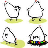 Poules illustration stock