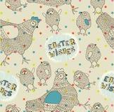 Poules et nanas de Pâques Photo stock