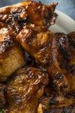 Poulet épicé fait maison de BBQ de barbecue Photographie stock