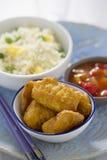 Poulet aigre doux avec du riz photos stock