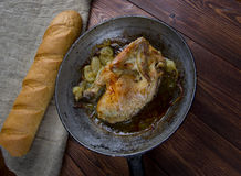 Poulet aux oignons Royalty Free Stock Photos