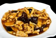Poulet avec de la sauce en bambou Photos stock
