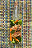 Poulet avec des légumes photographie stock