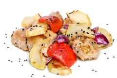 Poulet avec des légumes Photo stock