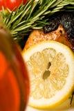 Poulet avec le citron Image libre de droits