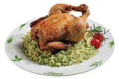 Poulet avec le couscous Image stock