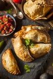 Poulet bourré fait maison Empanadas Image libre de droits