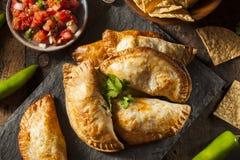 Poulet bourré fait maison Empanadas Photos libres de droits