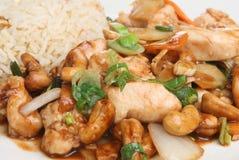 Poulet chinois avec des anacardes Photo libre de droits