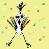 Poulet coloré drôle et d'amusement Images stock
