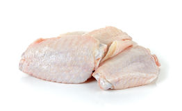 Poulet cru Wing Isolated On White Background Image stock