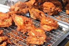 Poulet cuit à la friteuse Photo stock