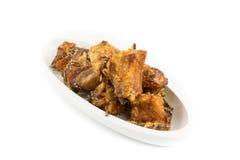 Poulet cuit à la friteuse Images stock