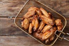 Poulet cuit à la friteuse Image stock