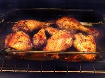 Poulet cuit au four Images stock