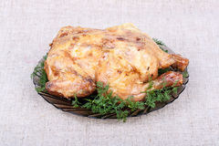 Poulet cuit au four Images stock