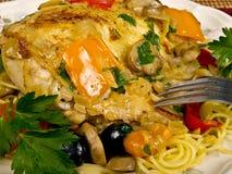 Poulet cuit au four italien photo stock