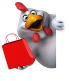 Poulet d'amusement - illustration 3D Photographie stock libre de droits