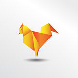 Poulet d'origami Illustration Libre de Droits