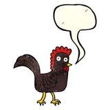 poulet de bande dessinée avec la bulle de la parole Image stock