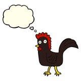 poulet de bande dessinée avec la bulle de pensée Photo libre de droits