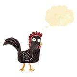 poulet de bande dessinée avec la bulle de pensée Image stock