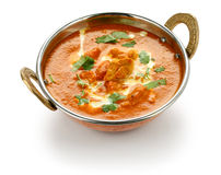 Poulet de beurre, cuisine indienne Photographie stock libre de droits