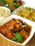 Poulet de cari - nourriture indienne. Image stock