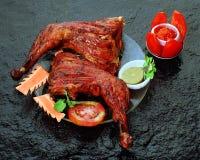 Poulet de cuisine tandoori de Punjabi Photographie stock
