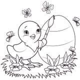 Poulet de Pâques illustration libre de droits