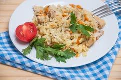 Poulet de pilaf en plus de quinoa Image stock