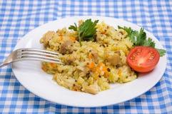 Poulet de pilaf en plus de quinoa Images stock