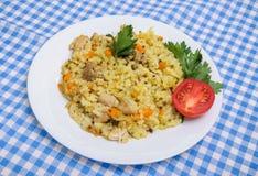 Poulet de pilaf en plus de quinoa Photo libre de droits