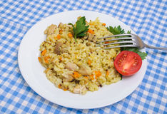 Poulet de pilaf en plus de quinoa Photos libres de droits