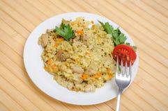 Poulet de pilaf en plus de quinoa Image libre de droits