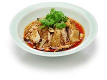 Poulet de salive, poulet mouthwatering, cuisine de la Chine Sichuan photographie stock