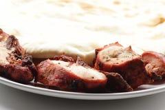 Poulet de Tandoori et pain de Naan de fromage Images libres de droits