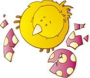 Poulet et coquille d'oeuf de Pâques illustration stock