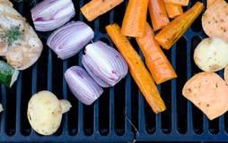 Poulet et légumes Photographie stock