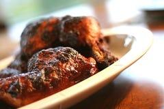 Poulet et nervures 3 de barbecue Images libres de droits