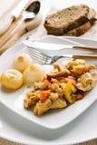 Poulet et poivrons aux oignons Photo libre de droits