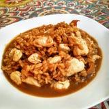 Poulet et riz photo libre de droits