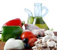Poulet frais avec le légume Image stock