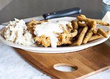 Poulet Fried Steak Photos stock