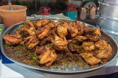 Poulet frit épicé de Malaisie photographie stock libre de droits