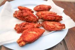 Poulet frit ou poulet cuit à la friteuse Photographie stock
