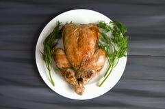 Poulet frit, poulet frit prêt à être servi, Images libres de droits
