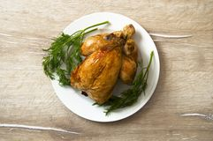 Poulet frit, poulet frit prêt à être servi, Photo libre de droits