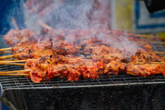 Poulet fumé de BBQ Images stock
